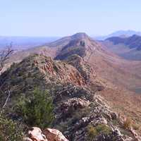 View along the West MacDonnell Ranges from the Larapinta Trail in Northern Territory, Australia