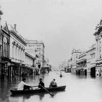Queen Street after 1893 Brisbane Flood in Queensland, Australia