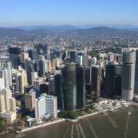 Riverfront cityscape view in Brisbane, Queensland, Australia