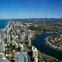City on the Gold Coast of Queensland, Australia
