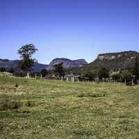 Hills and plains in Lamington National Park, Queensland, Australia