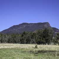 Large hill in the distance at Lamington National Park, Queensland, Australia
