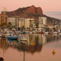 Looking at the landscape in Townsville, Queensland, Australia