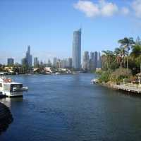 Surfers Paradise skyline in the Gold Coast in Queensland, Australia