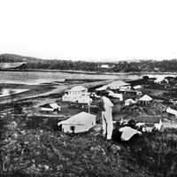 Townsville black and white View in Queensland, Australia