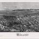 1876 aerial view of Adelaide, Southern Australia