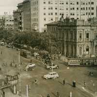 1938 View of Streets of Adelaide, Southern Australia