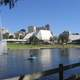 The Festival Centre and Torrens Lake in Adelaide, Southern Australia