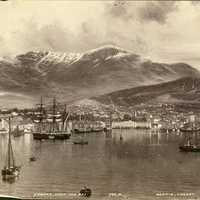 Black and White Photo of Hobart, Tasmania, Australia