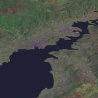 Satellite View of Hobart, Tasmania, Australia