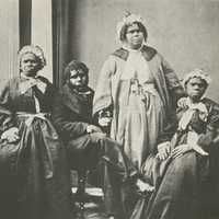 Four elderly full-blood Tasmanian Aborigines in Tasmania, Australia