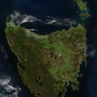 Satellite Photo of Tasmania, Australia