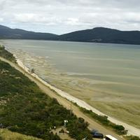 Shoreline of Bruny Island in Tasmania