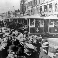 The opening of the Launceston Municipal Tramway in 1911 in Tasmania, Australia