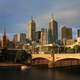 Bridge and Skyline of Melbourne,Victoria, Australia