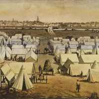 Canvas Town in the 1850s in Melbourne, Victoria, Australia