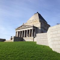 Stone Shrine and Wall in Melbourne, Australia