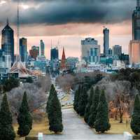 HDR Cityscape and Skyline of Melbourne