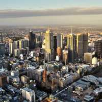 Melbourne Cityview with skyscrapers in Victoria, Australia