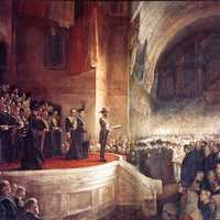 Opening of the first Parliament of Australia in Melbourne, Victoria in 1901