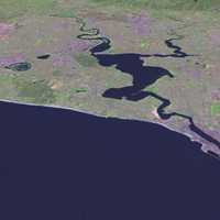 Satellite View of the Coast of Perth, Australia