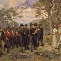 The founding of Perth in 1829 in Australia