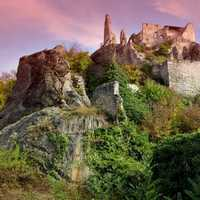 Castle Ruins on a hill in Austria