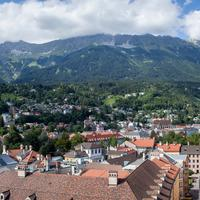 Panorama of Innbruck, Austria landscape