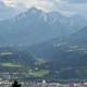 Panoramic view looking down in Innsbruck, Austria