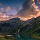 Red Clouds over the Mountains in Grossglockner, Austria