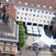Town Hall aerial view in Villach, Austria