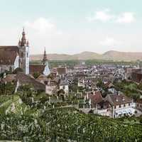 View of Krems in 1900 in Austria
