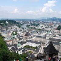 Cityscape with buildings under the sky in Salzburg, Austria