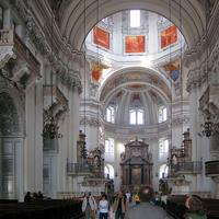 Inside the Cathedral in Salzburg, Austria