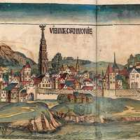 Depiction of Vienna in the Nuremberg Chronicle in 1493, Austria