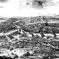Drawing of Vienna, Austria in 1683