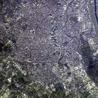 Satellite Image of Vienna in 2002, Austria