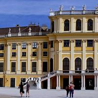 Schönbrunn Palace Panoramic in Vienna, Austria