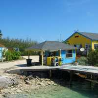Houses and Gas station in the Bahamas