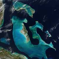 NASA Aerial shot of the Bahamas from space
