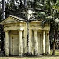 19th century Greek mausoleum at the University of Dhaka
