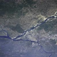View of Dhaka from the International Space Station in Bangladesh