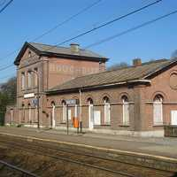 Boechout railway station building in Antwerp, Belgium