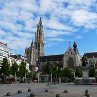 Old City Square of Antwerp, Belgium