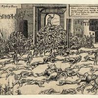 Sack of Antwerp in 1576 in Belgium