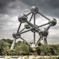Atomium structure at Brussels, Belgium