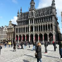 Brussels Courtyard in the City in Belgium