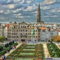 Brussels Plaza in Belgium, HDR