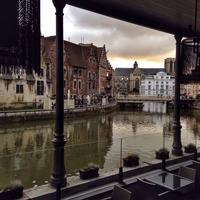 Channels of Ghent in Belgium