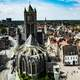 Rooftop view of Ghent in Belgium